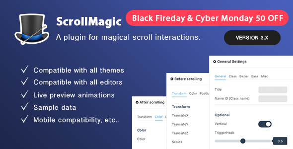 Scroll Magic Wordpress - Scrolling Animation Builder Plugin - CodeCanyon Item for Sale