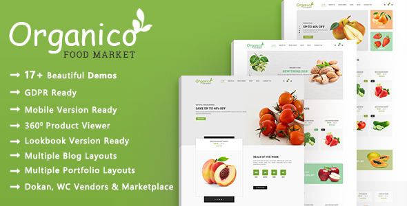 Organico - Organic Farm and Healthy Food WooCommerce WordPress Theme