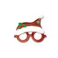 Christmas glasses ornaments and decorations isolated on white background - PhotoDune Item for Sale