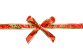 Shiny red and gold ribbons with bow isolated on white background - PhotoDune Item for Sale