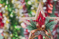 Christmas star ornaments and decorations with bokeh background and copy space - PhotoDune Item for Sale