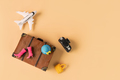 Miniature travel accessories and items with copy space, Travel concept - PhotoDune Item for Sale