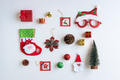 Christmas gifts, ornaments and decorations collection on white background, Flat lay, Top view - PhotoDune Item for Sale