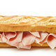 Baguette sandwich isolated on white background - PhotoDune Item for Sale