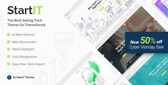 Startit - A Fresh Startup Business Theme - Technology WordPress