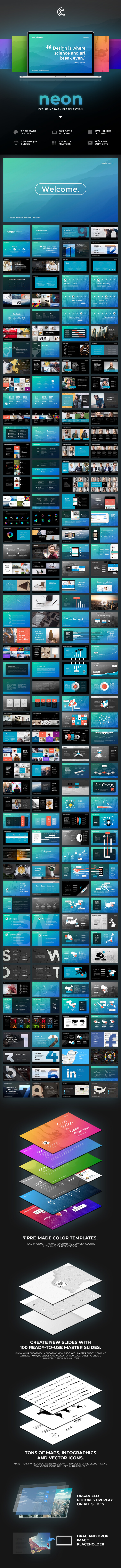 Neon Keynote - Keynote Templates Presentation Templates