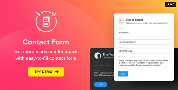 Contact Us Form - WordPress Contact Form Plugin - CodeCanyon Item for Sale