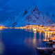 Reine village at night. Lofoten islands, Norway - PhotoDune Item for Sale
