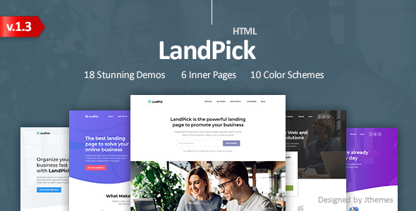 LandPick - Premium Multipurpose Landing Pages Bootstrap 4 HTML Template by Jthemes
