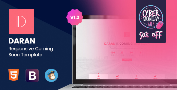 Daran - Responsive Coming Soon Template - Under Construction Specialty Pages