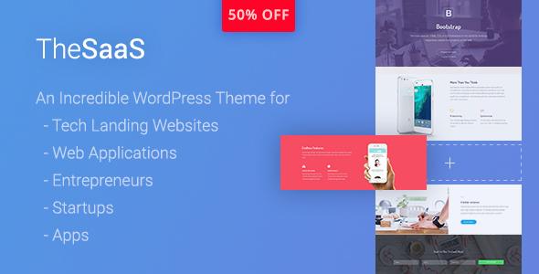 TheSaaS - Responsive SaaS, Startup & WebApp WordPress Theme - Software Technology