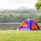Dome tents camping at lake side _-4 - PhotoDune Item for Sale