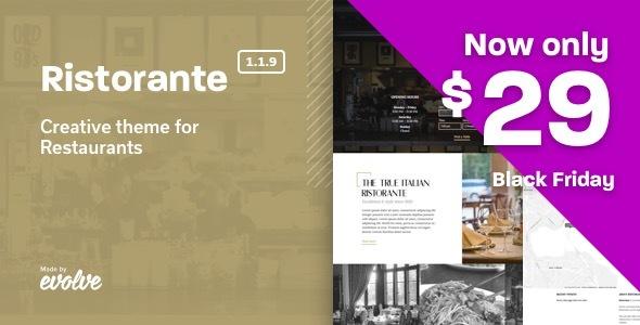 Ristorante - Creative Restaurant WordPress Theme - Restaurants & Cafes Entertainment