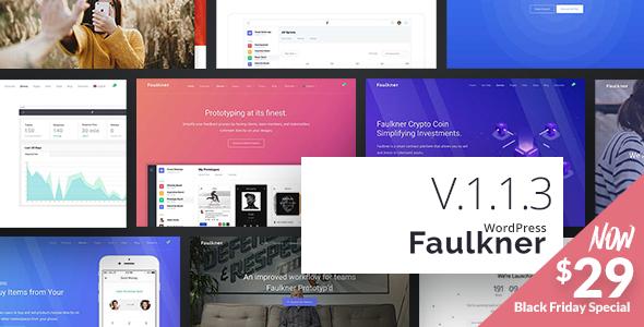 Faulkner - Responsive Multiuse WordPress Theme for Companies and Freelancers - Creative WordPress