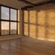 Interior empty room sunset 3D rendering - PhotoDune Item for Sale
