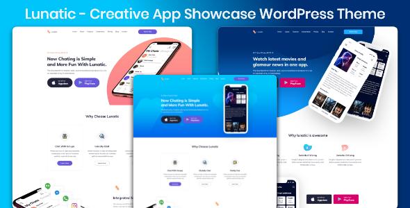 App Landing Lunatic - App Landing WordPress Theme - Technology WordPress