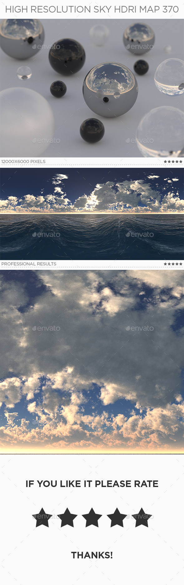 High Resolution Sky HDRi Map 370 - 3DOcean Item for Sale
