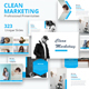 Free Download Clean Marketing Premium Google Slides Template Nulled