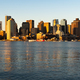 Tall Skyscrapers Reflect light into The Harbor in Downtown Boston - PhotoDune Item for Sale