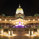 Capitol Building State House Purple Fountain Harrisburg Pennsylvania - PhotoDune Item for Sale