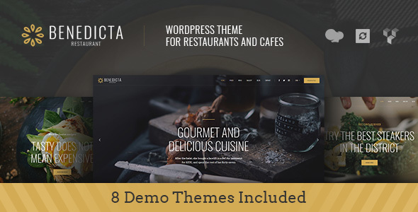 Benedicta - Restaurant & Food WordPress Theme