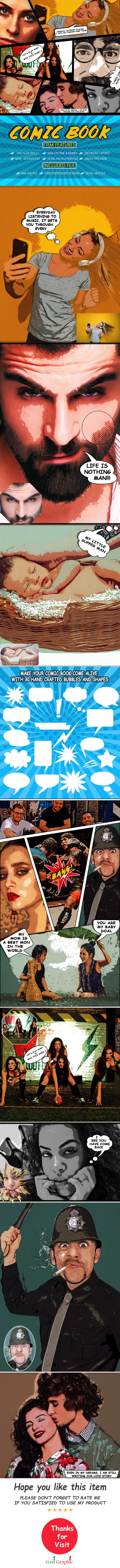 Comic Book Photoshop Action - Actions Photoshop