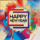 Happy New Year With Colors Photoshop Flyer Template - GraphicRiver Item for Sale