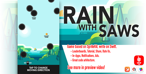 Rain With Saws - CodeCanyon Item for Sale