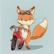 Fox on Bike - GraphicRiver Item for Sale
