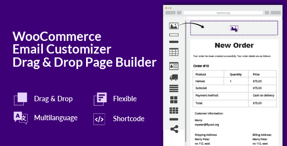 WooCommerce Email Customizer with Drag and Drop Email Builder Nulled
