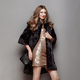 Free Download Fashion portrait young woman in black fur coat Nulled