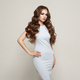 Free Download Beautiful woman in elegant white evening dress Nulled