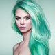 Beauty fashion model girl with colorful dyed hair - PhotoDune Item for Sale