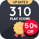 Pixity - 310 Flat Icons - GraphicRiver Item for Sale