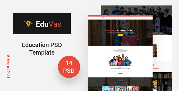 EduVas- Education PSD Template
