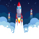 Business Startup Rocket Concept - GraphicRiver Item for Sale