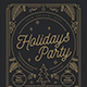 Gold Holiday Party Flyer - GraphicRiver Item for Sale