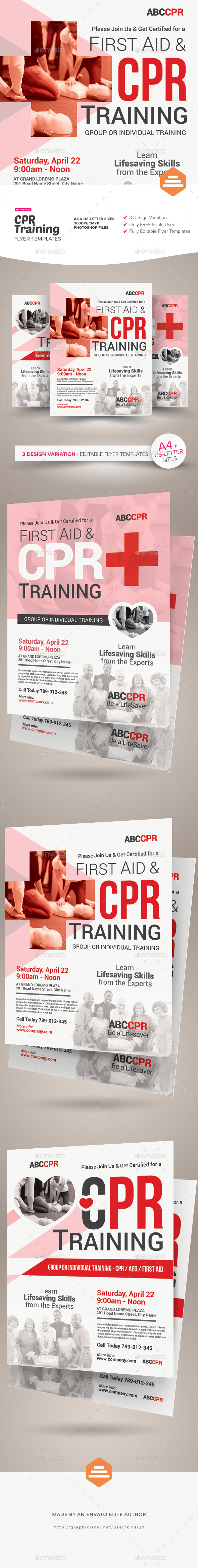 CPR Training Flyer Templates - Corporate Flyers
