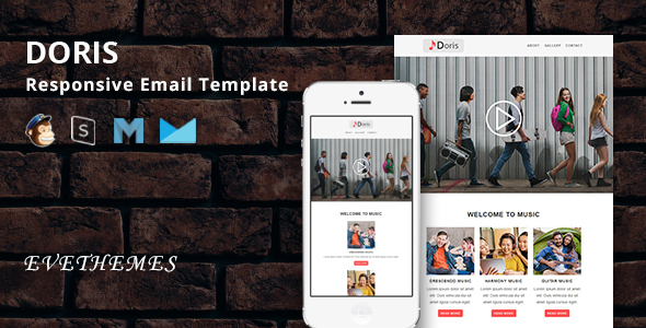 Doris - Responsive Email Template - Newsletters Email Templates
