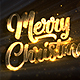 Merry Christmas and Happy New Year 2019 Gold Loop Backgorunds 5in1 - VideoHive Item for Sale