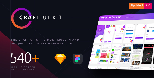 Craft   A Multipurpose and Multi Business Mobile UI Kit - Sketch Templates