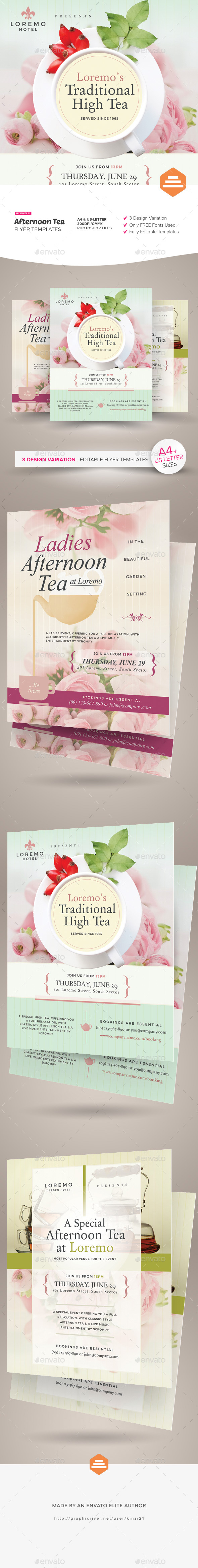 Afternoon Tea Flyer Templates - Miscellaneous Events