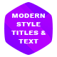 Modern Style Titles and Text - VideoHive Item for Sale