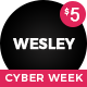 Free Download Wesley - Personal Portfolio Template Nulled