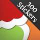300 raster stickers - GraphicRiver Item for Sale