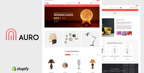 Auro | Hanging, Decorarive Lights Shopify Theme - Shopify eCommerce