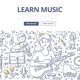 Learn Music Doodle Concept - GraphicRiver Item for Sale