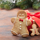 Christmas greeting card with gingerbread cookies - PhotoDune Item for Sale