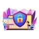 Cyber Security Concept Vector Illustration. - GraphicRiver Item for Sale
