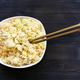top view of portion of Fried Rice with chopsticks - PhotoDune Item for Sale